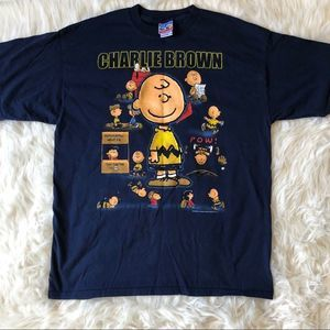 Charlie Brown Peanuts 50th Celebration Y2K T-shirt